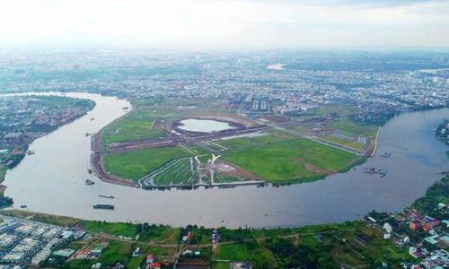 Bán đảo Hiệp Bình Phước, quận Thủ Đức. Ảnh: D.P