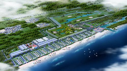 Phối cảnh tổng quan dự án Hoa Tiên Paradise - Xuân Thành Golf and Resort.