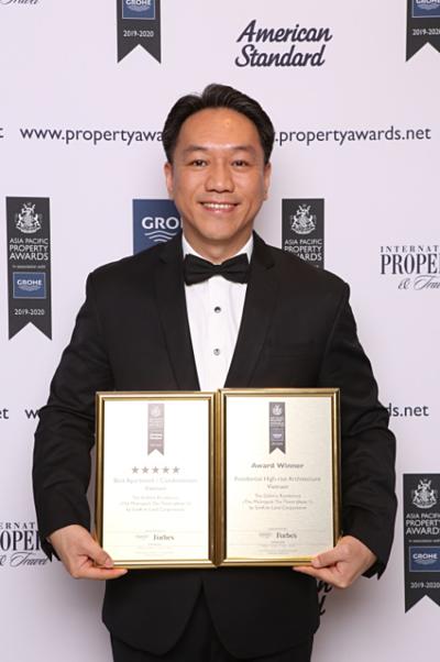 SonKim Land đạt 2 giải thưởng tại Lễ trao giải Bất động sản Châu Á Thái Bình Dương 2019với dự án The Galleria Residence - Huệ ơi, edit giúp chị nha, thanks em - 2
