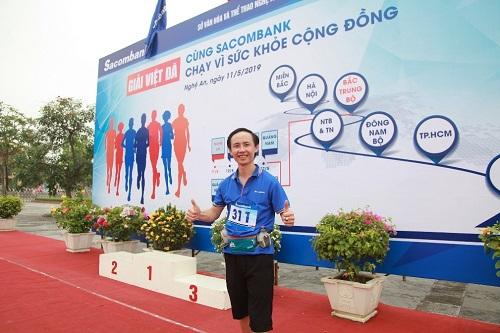 Anh Lê Văn Miến - VĐV tham gia đường chạy