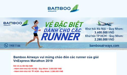 Cổ động viên đua săn vé máy bay đi Quy Nhơn cổ vũ VnExpress Marathon