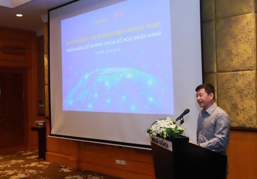 Ông Nguyễn Trần Tuấn Anh - Tổng Giám đốc công ty BSI chia sẻ về công nghệ mới giúp đẩy nhanh số hóa ngân hàng.