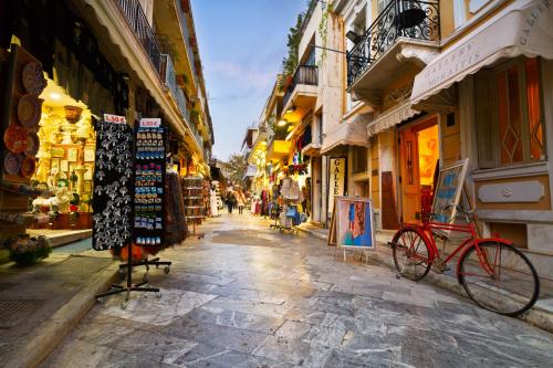 Một góc của thủ đô Athens, Hy Lạp.