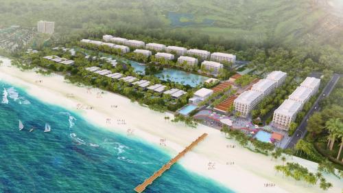 Phối cảnh dự án The Hamptons Plaza với lợi thế sát biển.