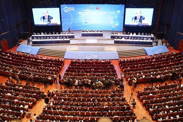 Quang cảnh hội trường nơi diễn ra Diễn đàn Kinh tế tư nhân 2019.