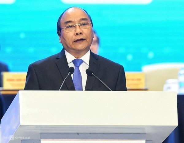 Thủ tướng Nguyễn Xuân Phúc phát biểu khai mạc Diễn đàn.