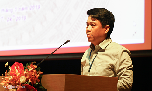 Head of Pham Tien Dung spoke at the conference. Photo: Anh Tu