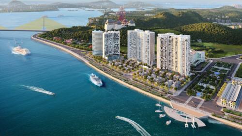Hòn Gai chưa xuất hiện nhiềucăn hộ nghỉ dưỡng cao cấp bên bờ biển.