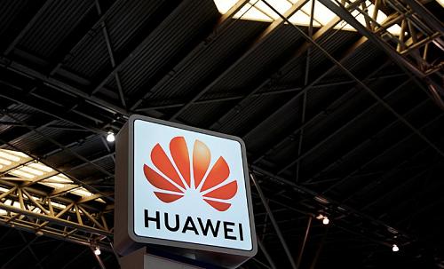 Logo Huawei trên một gian hàng tại triển lãm về bảo mật ở Thượng Hảihôm 24/5. Ảnh: Reuters