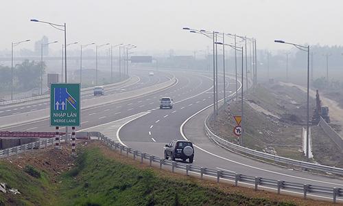 Cao tốc Hà Nội - Hải Phòng. Ảnh: Xuân Hoa.