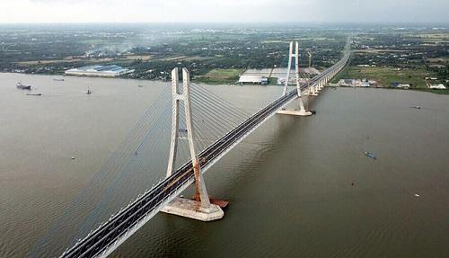 Cầu Vàm Cống thông xe chấm dứt tình trạng qua sông lụy phà trên tuyến TP HCM - Hà Tiên.