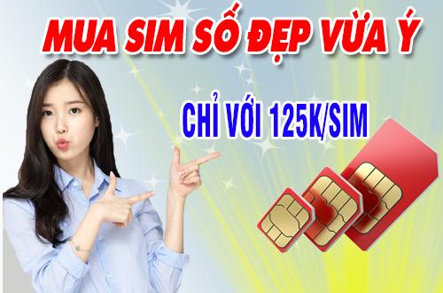 Sim đẹp giá từ 125.000 đồng tại muasim.com.vn.