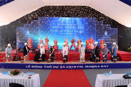 Lễ động thổ dự án Crystal Marina Bay diễn ra vào ngày 26/5.