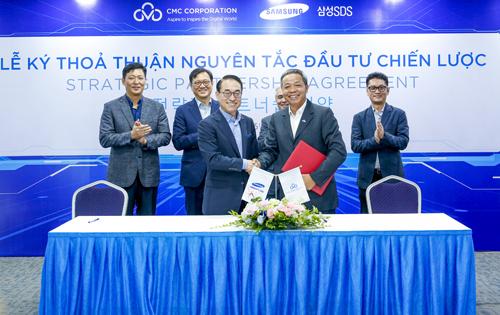 Tiến sĩ Won-Pyo Hong - Chủ tịch và Giám đốc điều hành của Samsung SDS ký thỏa thuận nguyên tắc đầu tư chiến lược với Tập đoàn CMC.
