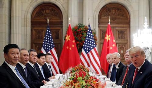 Đoàn lãnh đạo Mỹ - Trung gặp nhau tại G20 ở Argentina tháng 12/2018. Ảnh: Reuters