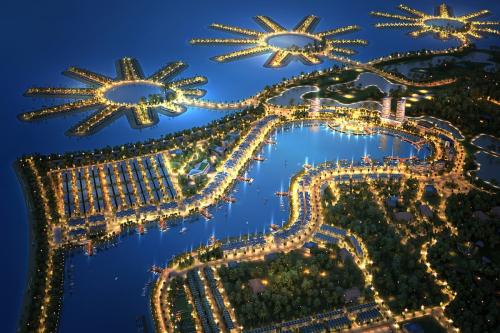 Dự án Tuần Châu Marina nhìn từ trên cao xuống.