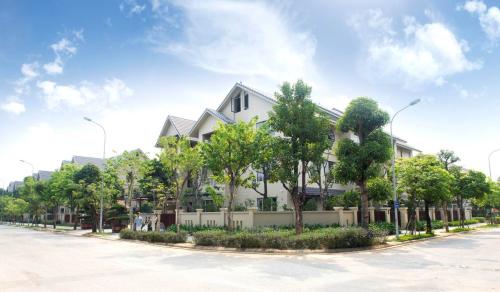 Không gian sống tronh lành, xanh mát tại khu đô thị Sunny Garden City hấp dẫn khách hàng.