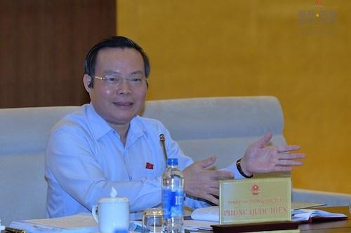 Ông Phùng Quốc Hiển - Phó chủ tịch Quốc hội