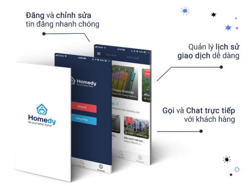 Giao diện App của Homedy.