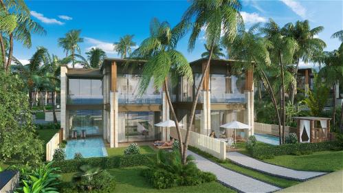 Six Miles Coast Resort bao gồm 242 biệt thự nghỉ dưỡng sang trọng, hướng nhìn ra biển.