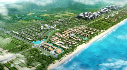 Thị trường bất động sản nghỉ dưỡng Lăng Cô sôi động với các dự án quy mô lớn.