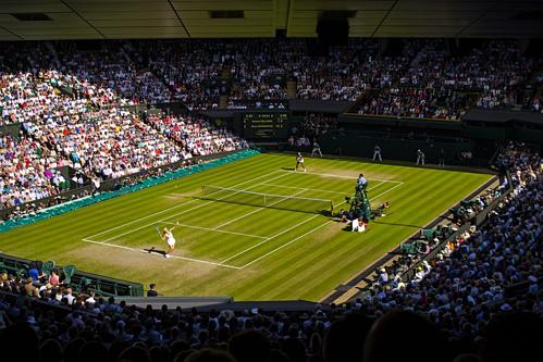Một trận đấu tại giải Wimbledon. Ảnh: Pixabay