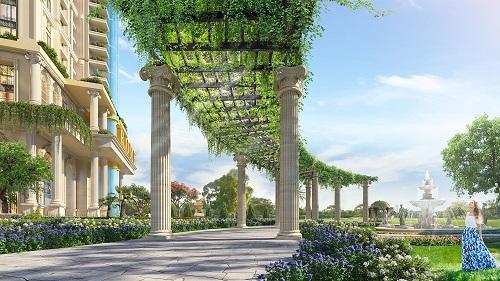 Từng chi tiết trong công trình tại khu tiện ích, hàng lang, khu vực sinh hoạt chung, cảnh quan... đều được chăm chút sao cho giữ trọn giá trị kiến trúc quý tộc, cổ điển.