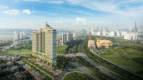 Phối cảnh tổng thể cho thấy vị trí chiến lược của dự án tại nút giao các trục đại lộ huyết mạch phía Đông Sài Gòn.