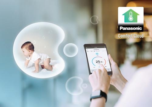 Comfort Cloud_kết nối điều hòa với điện thoại thông minh thông qua Wi-Fi.