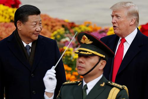Chủ tịch Trung Quốc Tập Cận Bình và Tổng thống Mỹ Donald Trump. Ảnh: Reuters