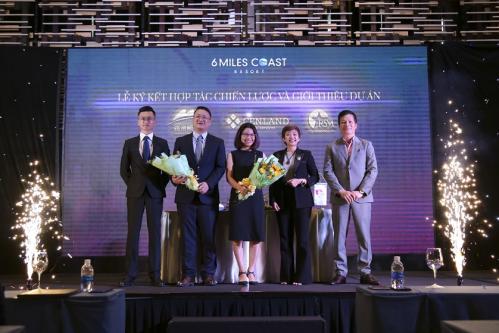 Chủ đầu tư Minh Viễn ký kết hợp tác chiến lược với đơn vị phân phối CenLand và đơn vị truyền thông Ngôi Sao Mới trong dự án Six Miles Coast Resort.