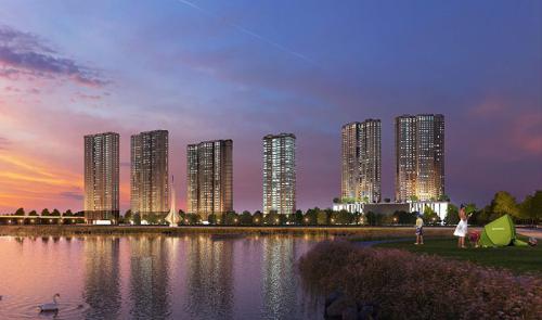 Dự án D'. Capitale tọa lạc tại ngã tư Trần Duy Hưng và Khuất Duy Tiến, Hà Nội
