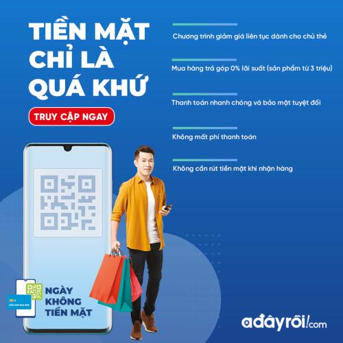 Adayroi khuyến mãi nhân ngày không dùng tiền mặt đầu tiên ở Việt Nam