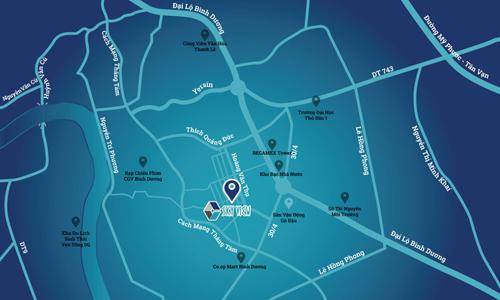 C-Sky View là dự án căn hộ cao cấp hiếm hoi tọa lạc tại phường Chánh Nghĩa - trung tâm kinh tế và giải trí sầm uất bậc nhất TP Thủ Dầu Một.