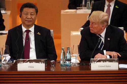 Chủ tịch Trung Quốc Tập Cận Bình và Tổng thống Mỹ Donald Trump tại G20 năm 2017. Ảnh: AFP