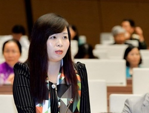 Bà Vũ Thị Lưu Mai - Uỷ viên thường trực Uỷ ban Tài chính ngân sách. Ảnh: Trung tâm báo chí Quốc hội