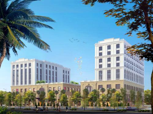 Phối cảnh trung tâm thương mại, dự án khu phức hợp Hoàng Hải Complex.