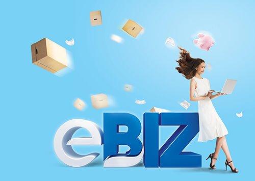 eBIZ. Đây là dòng sản phẩm chuyên biệt cho khách hàng kinh doanh, buôn bán sỉ và lẻ. Qua đó khách hàng có thể giảm bớt nỗi lo về các loại phí khi giao dịch hàng ngày.