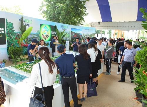 Theo ghi nhận, khách tham quan đặc biệt quan tâm đến mô hình tổ hợp du lịch - nghỉ dưỡng - giải trí quy mô lớn là NovaWorld Phan Thiet, NovaWorld Ho Tram với dòng sản phẩm biệt thự nghỉ dưỡng, nhà phố nghỉ dưỡng (second home).