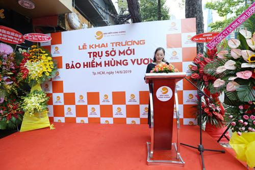 Bà Tạ Thị Thanh, Tổng giám đốc công ty phát biểu tại sự kiện.