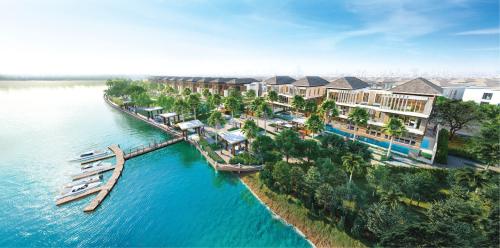 Phối cảnh dự án biệt thự đảo nổi Dana Diamond City.