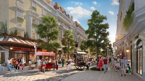 Tiểu khu Élyseé (Shophouse Europe) - dãy phố mua sắm đẳng cấp sắp hoàn thiện tại Hạ Long