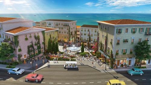 Dự án mang âm hưởng phong cách kiến trúc Địa Trung Hải, lấy cảm hứng từ thị trấn du lịch Almafi (Italy).