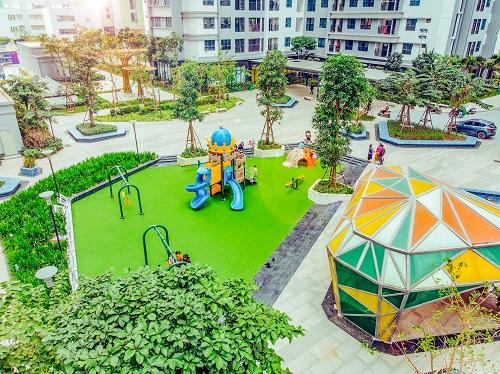 Không gian vui chơi với đa dạng tiện ích cho trẻ nhỏ tại TNR Goldmark City,