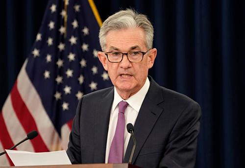 Chủ tịch Fed - Jerome Powell tại buổi họp báo. Ảnh: Reuters