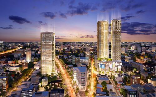 Hai toà tháp biểu tượng của hệ sinh thái Alpha City, nổi bật giữa khu thấp tầng lõi trung tâm Quận 1