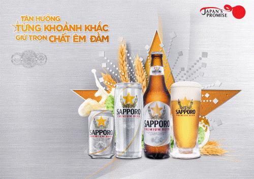 Là loại bia được ra đời từ công thức Nhật Bản đúc kết hơn 140 năm tinh hoa, kết hợp hài hòa ba yếu tố gồm nguyên liệu chọn lọc kỹ lưỡng, công nghệ hiện đại và nỗ lực phát triển không ngừng, Sapporo Premium Beer đã và đang đồng hành cùng người Việt trong mọi cuộc vui. Loại bia này sẽ luôn đồng hành cùng mọi người từ tiệc vui xứng tầm đẳng cấp đến những khoảnh khắc sẻ chia đời thường.
