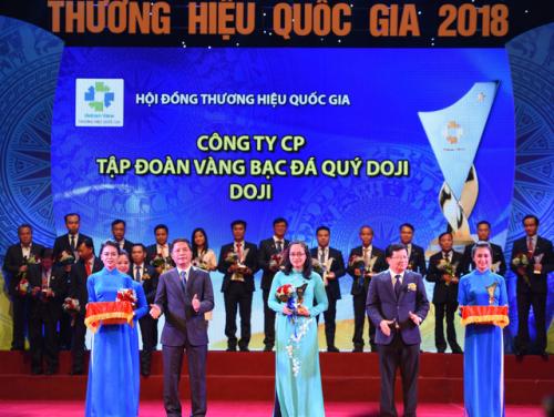 Tập đoàn Vàng bạc đá quý DOJI có 9 năm liên tiếp lọt top 5 trong Bảng xếp hạng Top 500 Doanh nghiệp tư nhân lớn nhất Việt Nam (VNR500) và 8 năm liên tiếp được công nhận Thương hiệu Quốc gia Việt Nam.