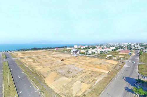 Một dự án đất nền ven biển được mở bán thời gian gần đây. Ảnh: CĐT