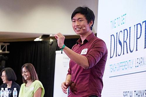 Oswald Yeo, CEO của Glints, phát biểu tại Diễn đàn Đổi mới Giáo dục tổ chức bởi tạp chí Strait Times và Học viện Quản lý Singapore vào tháng 2/2018.
